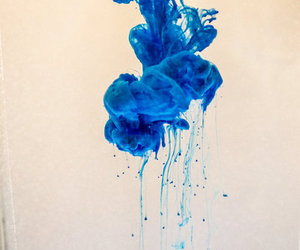 beautiful, blue, and ink image
