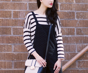 bag, black, and dungarees image