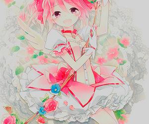 anime girl, manga, and madoka image