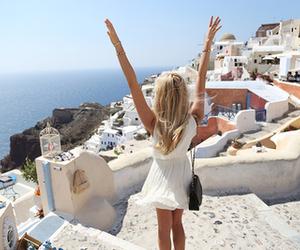 girl, summer, and Greece image