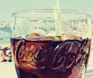 coca cola, summer, and drink image