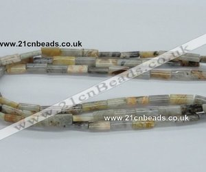 agate gemstone beads and rectangular agate beads image