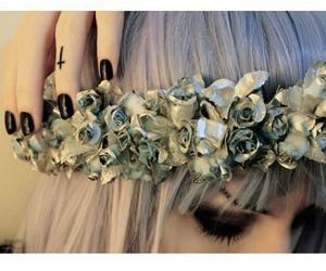 flowers, hair, and nails image