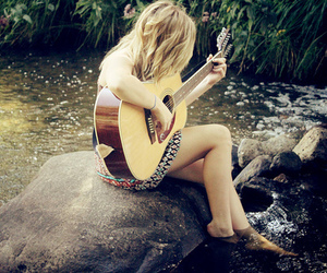 river and guitar image