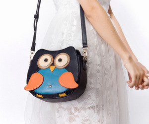 bag, fashion, and owl image