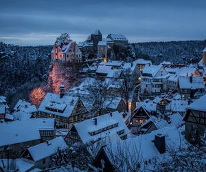 germany, snow, and night image