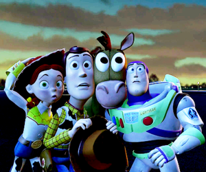 buzz lightyear, friendship, and scary image