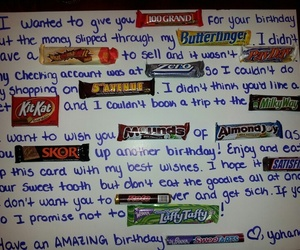 birthday, candy, and card image
