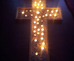 candles and cross image