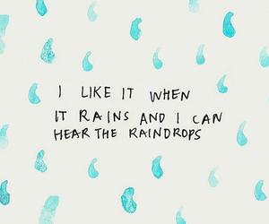 rain, quotes, and raindrops image