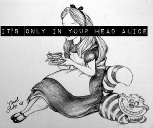 alice in the wonderland, depressive, and hipster image