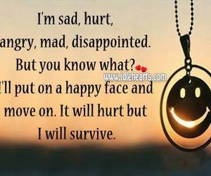 angry, happy face, and hurt image