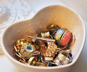 rings, accessories, and girly image