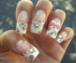 girly, nail art, and acrylic nails image