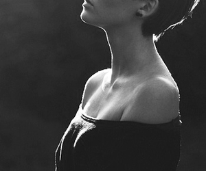 black and white, hair, and short hair image