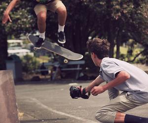 skate, boy, and camera image