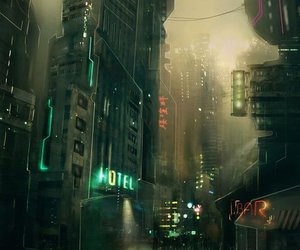 art, cyberpunk, and digital art image