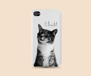 case, girl, and cat image
