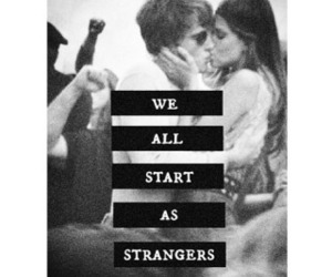 love, strangers, and kiss image