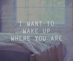 love, quote, and wake up image