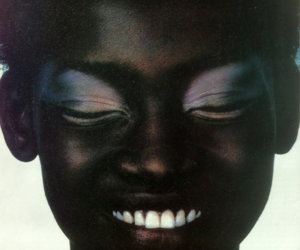 smile, girl, and black image