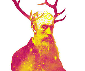 antlers and illustration image