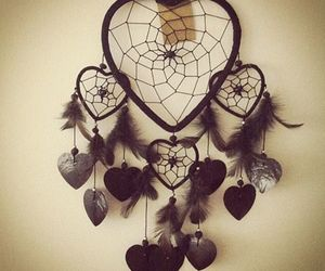 Dream, heart, and dreamcatcher image