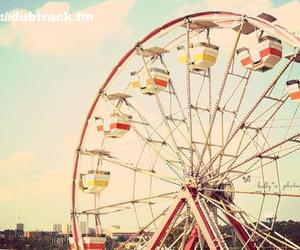 vintage, sky, and ferris wheel image