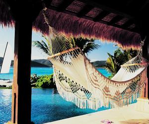 beach, hammock, and summer image