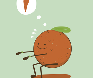 orange, carrot, and fitness image