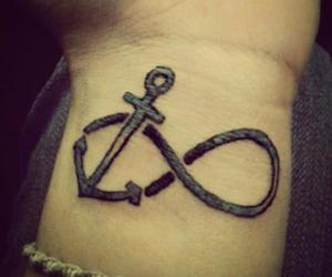 tattoo, anchor, and infinity image