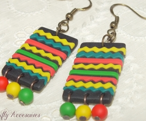 diy, earrings, and fimo image