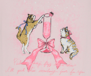 art, cats, and champagne image