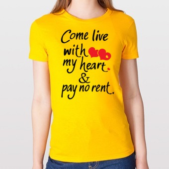 219d66d3e Come live with my heart love quotes t-shirt on We Heart It