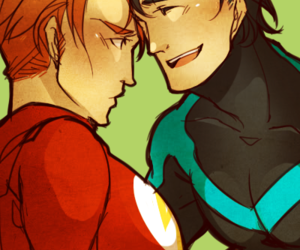 flash, gay, and nightwing image