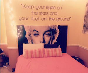 quote, bed, and pink image