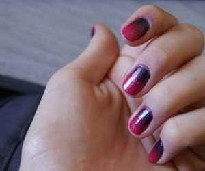 diy, girl, and gradient nails image