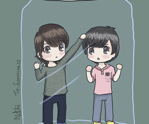 art, sungmin, and donghae image