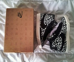 nike, shoes, and leopardprint image