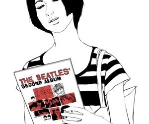 woman, beatles, and illustration image