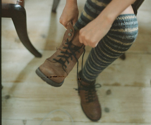 boots, hipster, and shoes image