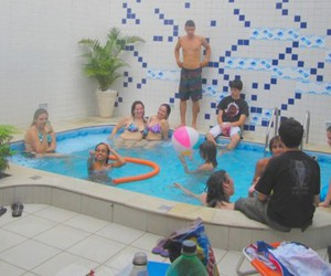 fun, house party, and pool image