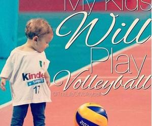 kids and volleyball image