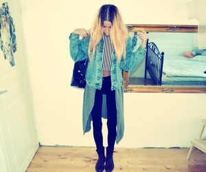 denim, style, and dr. martens image