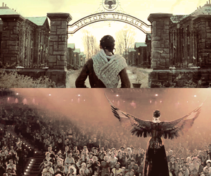 the hunger games, catching fire, and katniss image