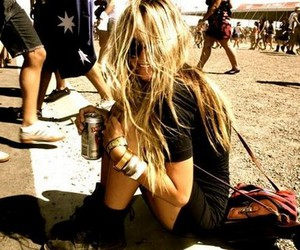 blonde, fashion, and festival image