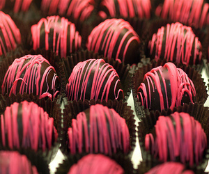chocolate, pink, and food image