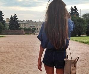 bag, girl, and summer image