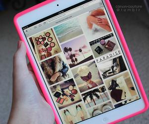 pink, ipad, and apple image