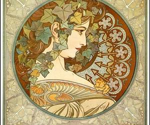 alfons mucha and ivy image